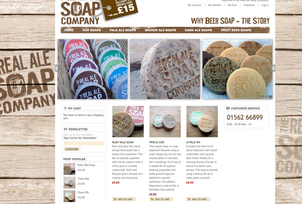 The Real Ale Soap Company website