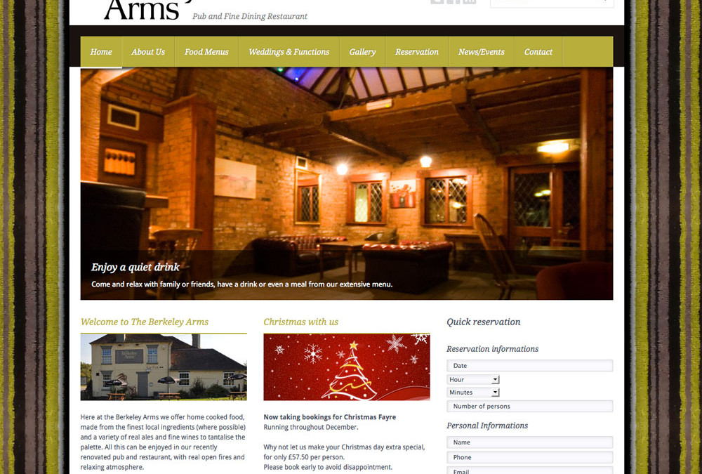 The Berkeley Arms Spetchley Website now LIVE