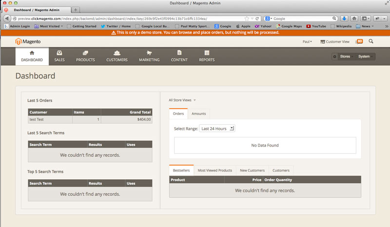 Magento 2 Demo With Access To The Back End Admin