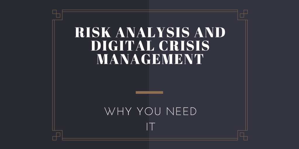 Risk Analysis Digital Crisis managment